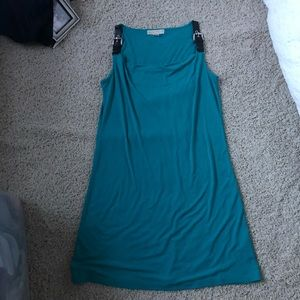 Teal sleeveless dress